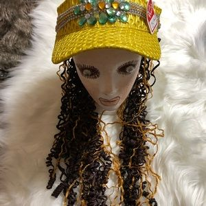"Women's like new on the ""Go"" Yellow Visor Hair Hat"